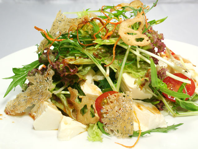 水菜豆腐サラダ