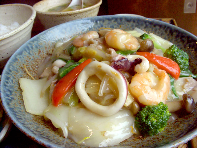 海鮮バリそば(皿うどん)