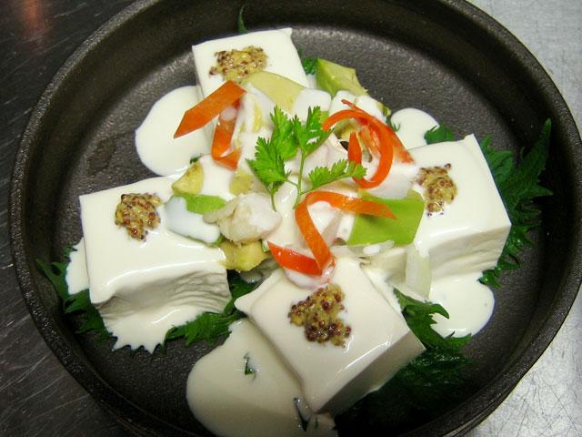 京豆腐とアボガドの日米豆腐条約 780円
